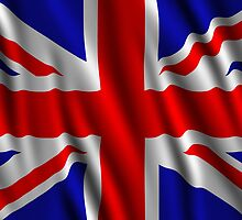 Great Britain Wavy Flag illustration by creativedesignz