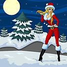 Moon light Santa Girl by AnishaCreations