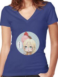 Yummy Kurista Women's Fitted V-Neck T-Shirt