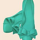 Teal High Heels by rachels1689