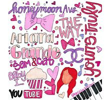 Ariana Grande Collage by lyricsbykailynn