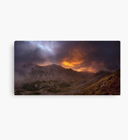 Sunrise in the Sangre de Cristo - Sangre de Cristo Wilderness, Colorado Canvas Print