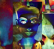 Nefertiti_Blue_beige by AnkhaDesh