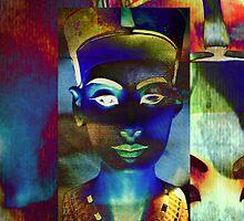 Nefertiti_Blue_beige by AnkhaDesh