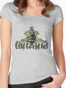 TAKE TO THE SEA Women's Fitted Scoop T-Shirt