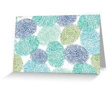 Fingerprints pattern Greeting Card