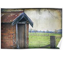 A little country OutHouse Poster
