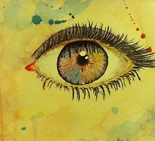 Watercolor Eye by Bonnie Heinrich