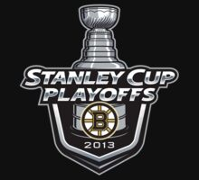 Boston Bruins stanley cup playoff logo black t-shirt tshirt shirt by johntshirt