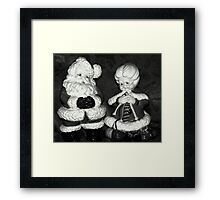 Mrs.Claus And Santa Framed Print