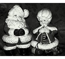 Mrs.Claus And Santa Photographic Print