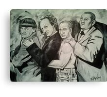 3 Stooges and Putin in a Conga Line Canvas Print