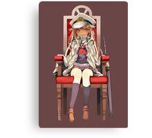 Little Yuudachi as Admiral Canvas Print