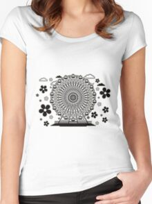 Ferris_Wheel Women's Fitted Scoop T-Shirt