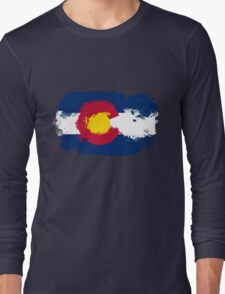 Colorado Flag Grunge Long Sleeve T-Shirt