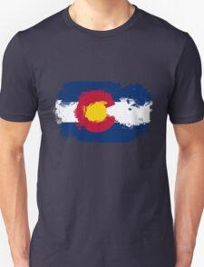Colorado Flag Grunge Unisex T-Shirt