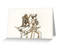 Kamina & Yoko Greeting Card