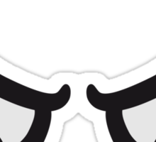 Angry Comic Eyes Sticker