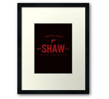 Person of Interest - Shaw - Black Framed Print