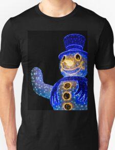 Blue Snowman Decoration Lights Unisex T-Shirt