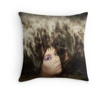 Earth Personified Throw Pillow