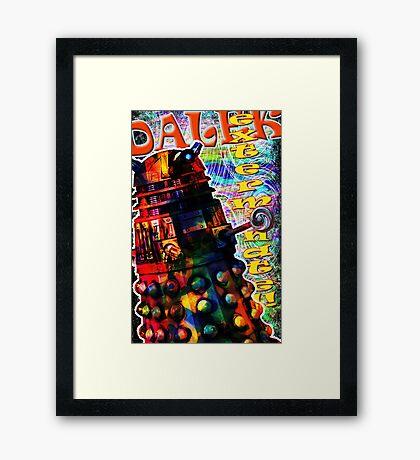 Dalek - Exterminate! by Mark Compton Framed Print