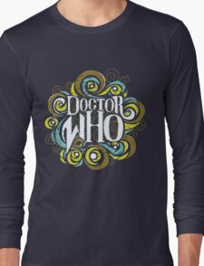 Whimsically Wibbly Wobbly Timey Wimey - Dark Shirt The First Long Sleeve T-Shirt