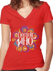 Whimsically Wibbly Wobbly Timey Wimey - Dark Shirt The Second Women's Fitted V-Neck T-Shirt