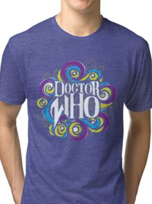 Whimsically Wibbly Wobbly Timey Wimey - Dark Shirt The Second Tri-blend T-Shirt