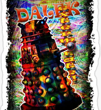 Dalek - Exterminate! by Mark Compton Sticker