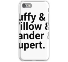 Buffy The Vampire Slayer Character Names (1) iPhone Case/Skin