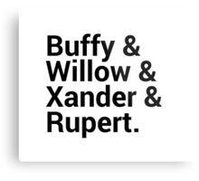 Buffy The Vampire Slayer Character Names (1) Metal Print