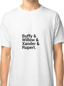 Buffy The Vampire Slayer Character Names (1) Classic T-Shirt