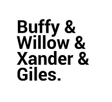 Buffy The Vampire Slayer Character Names Photographic Print