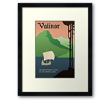 Travel Middle Earth: Valinor Framed Print