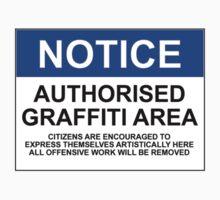 AUTHORISED GRAFFITI AREA by Bundjum