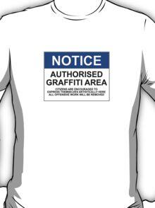 AUTHORISED GRAFFITI AREA T-Shirt
