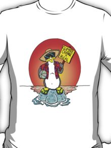 Global Warming Penguin T-Shirt