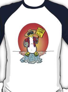 Global Warming Penguin T-Shirt
