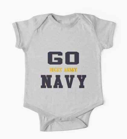 Go Navy, Beat Army!! One Piece - Short Sleeve