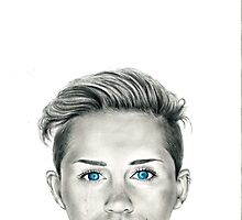 Miley Cyrus Wrecking Ball Portrait by Tiffany Taimoorazy