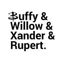 Buffy The Vampire Slayer Names  Photographic Print