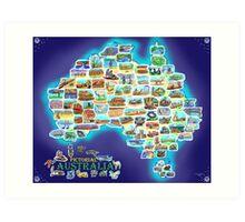 Pictorial Australia Art Print