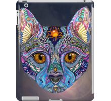 Psychedelic Cat with flair iPad Case/Skin