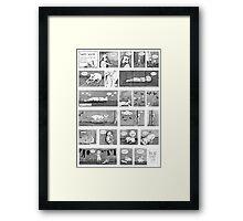 Luni's World Comic Print Framed Print
