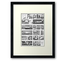 Luni's World Comic Print Framed Print