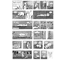 Luni's World Comic Print Photographic Print