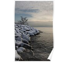 Clearing Snowstorm - Lake Ontario, Toronto, Canada Poster