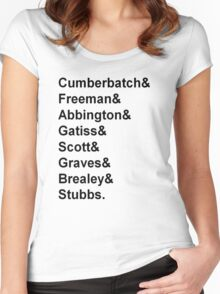 Sherlock cast member names  Women's Fitted Scoop T-Shirt