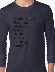 Sherlock cast member names  Long Sleeve T-Shirt